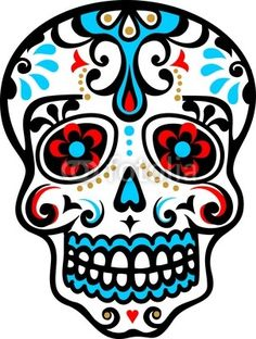 Mexikanischer Totenschädel - dias de los muertos