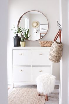 from House of Hire, A Kid Friendly Home from House of Hire, A Kid Friendly Home from House of Hire, boho living room Easy Shoe Cabinet Ikea Hack for a Narrow Entryway Home Entrance Decor, House Entrance, Entryway Decor, Bedroom Decor, Apartment Entrance, Entryway Ideas, Small Apartment Entryway, Small Entrance, Hallway Furniture