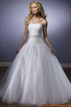 Robe de mariée tulle perlé avec bustier