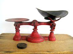 Antique Red Scale / General Store / Industrial by BirdinHandVTG