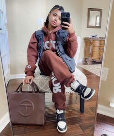Swag Outfits For Girls, Chill Outfits, Girly Outfits, Stylish Outfits, Cute Outfits, Black Girl Fashion, Tomboy Fashion, Streetwear Fashion, Fashion Outfits