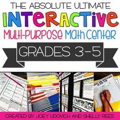 ★ ★ ★ VIDEO & BLOG LINKS AT THE BOTTOM -- CHECK THEM OUT! ★ ★ ★ The Absolute, ULTIMATE, Interactive Multi-purpose Math Center is your one-stop resource for an entire year's worth of fun, engaging math centers!