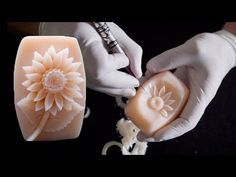 Rose Piping Cold Process Soap( Recipe used Below) Soap Carving Patterns, Diy Soap Carving, Soap Sculpture, How To Pipe Roses, Soap Tutorial, Decorative Soaps, Carving Designs, Art Carved, Soap Recipes