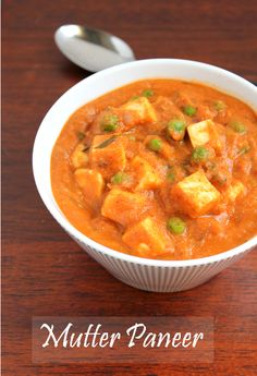 Mutter Paneer is everyone's favourite especially children.My friend used to call it as national dish of India.It is so popular and you g. Paneer Recipes, Indian Food Recipes, Vegetarian Recipes, Ethnic Recipes, Veggie Main Dishes, Vegetable Side Dishes, Indian Cookbook, Fried Fish Recipes, National Dish