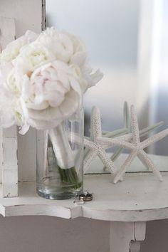 white flowers, beach wedding destin fl