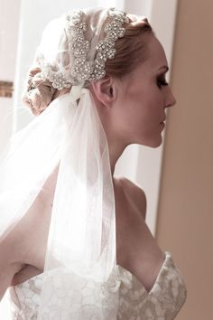 Hey, I found this really awesome Etsy listing at http://www.etsy.com/listing/91098801/juliet-cap-wedding-veil-unique