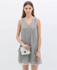 ZARA - NEW THIS WEEK - COMBINED CHIFFON DRESS