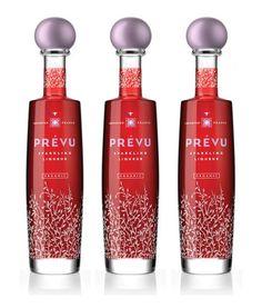 Prévu 100% organic sparkling liqueur = féminin & élégant