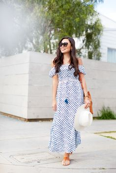 Blue and White Sundress in Venice.