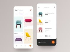 E-commerce App Interface store typography 2019 ux ui design interaction creative awsmd checkout minimal fashion layout product cart chairs furniture interface app ecommerce Ui Design Mobile, App Ui Design, Design Blog, Logo Design, Flat Design, Design Design, Website Design Inspiration, Ui Inspiration, Ui Ux Designer