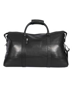 Look at this #zulilyfind! Black Falls Canyon 22'' Leather Monogram Cabin Duffel Bag by Canyon Outback Leather #zulilyfinds