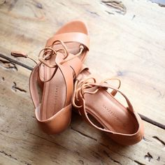 madewell et sézane, july 2015: ulysses brown leather lace-up sandals. #madewellxsezane