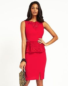 Buy Lipsy Lace Peplum Midi Dress from the Next UK online shop Peplum Midi Dress, Lace Peplum, Lipsy, Next Uk, Uk Online, Cherry, Stuff To Buy, Shopping, Clothes