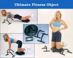 Ultimate Fitness Object. UFO Features: -Includes how to exercise video. -Ultimate collection. -Comes with knee roller pad. -2 Push up ergonomic floor bars. -Soft contoured pad with bi-directional wheel. -Unique rear motion makes it easier to use and control. Product Type: -Core machine. Collection: -Ultimate. Frame Color: -Black.