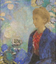 Title: Baronne de Domecy Artist/Maker(s): Odilon Redon (French, 1840 - 1916)