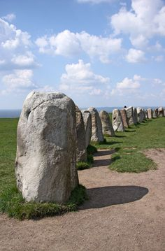 Ale stenar, Skåne, Sweden A megalithic monument that is made up of 59 boulders making what looks like the outline of a ship.