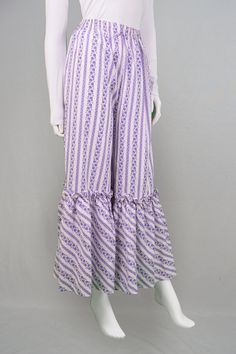 Vintage 70s Flares Palazzo Pants Wide Leg Trousers by ZeusVintage