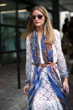 Olivia Palermo in Burberry