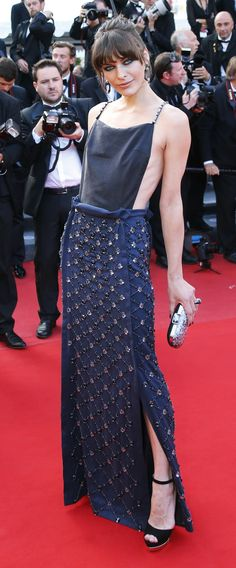 Milla at Cannes. Favourite dress so far.