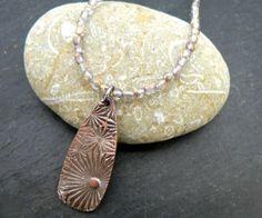 Handmade Copper Sunburst Pendant Beaded by PreciousSparkleGifts, £22.00