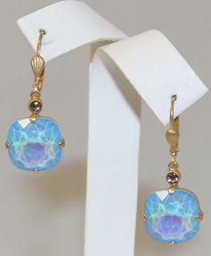 Catherine Popesco / La Vie Parisienne Ultra Blue Swarovski Crystal Earrings