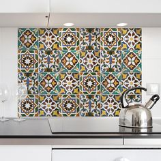 Green Tiles Kitchen Tiles Wall Decal
