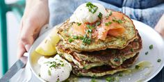 These savoury pancakes from the IQS Breakfast Cookbook are packed full of good stuff to fuel you through the morning.