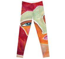 Red on a Starry Night Leggings Custom Design, Leggings, Night, Red, Pants, Shopping, Fashion, Bespoke Design, Moda