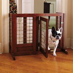 Use craftsman details on a pet gate