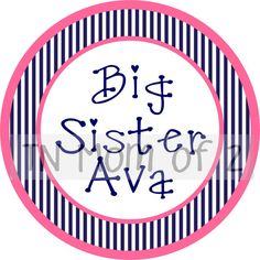 big sister big sis little middle monogram iron on  can by tnmomof2, $7.00