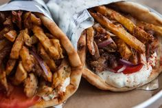 It's All GRK Toronto: Quick bites - Fries in a chicken gyro - awesome! Chicken Gyros, Shawarma, Cheesesteak, Places To Eat, Toronto, Fries, Awesome, Ethnic Recipes, Food