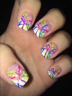 So much color so little time. Rave nails