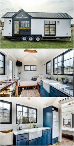 tiny house on wheels / tiny house ; tiny house on wheels Best Tiny House, Modern Tiny House, Tiny House Plans, Tiny House Design, Tiny House On Wheels, Tiny House On Trailer, Inside Tiny Houses, Tiny House Luxury, Small House Interior Design