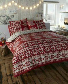 #Decorare la #vostra #stanza da #letto con #queste #fantastiche #coperte #natalizie *-* www.visitami.net