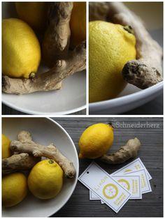 Zitronen-Ingwer Likör  ( free printable)