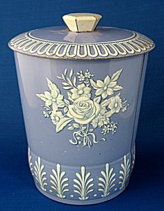 Tea Tin Canister English Blue And White Tea Caddy (Tea Caddies ...