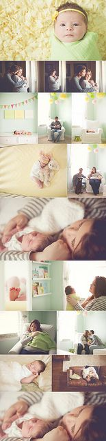 I like the bottom picture, so you don't see an unflattering double chin on mama. Lauren Ammerman Photography - Lifestyle Newborn