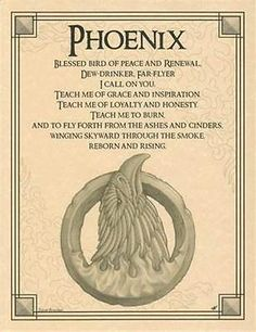 Phoenix-Evocation-Parchment-Book-of-Shadows-Page-Pagan-wicca-witch