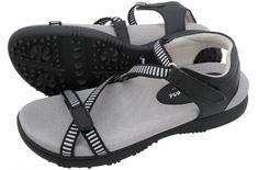 Sandbaggers Ladies Golf Sandals - GALIA Black