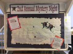 Bracebridge Public Library hosted another successful Mystery Night in October 2016 with 10 teams following clues throughout the Library to find their way to the hidden treasure.  Great fun!