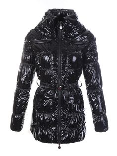 Cheap Moncler Jacket Moncler Womens Goose Down Coat Belt Black Outerwear