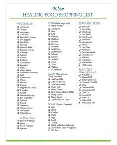 Healing Food Shoppping List