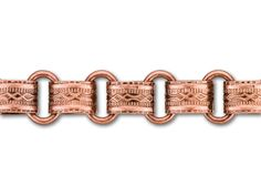 8.5mm Antique Copper-Plated Vintage Reproduction Chain by the Foot
