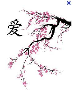 Cherry blossom across ribs maybe