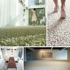 #3 The Skull Carpet - Artist Nino Sarabutra Filled The Floor Of Ardel Gallery In Bangkok With 100k Miniature Porcelain Skulls