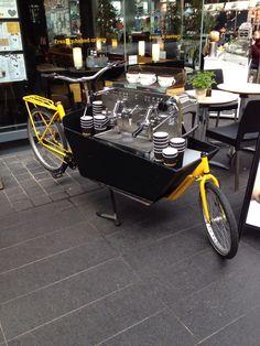 Coffee bike in Spitafields Market, London
