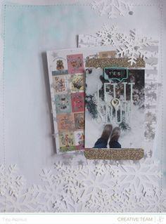 snow scrapbook inspiration - Google Search