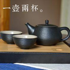 Olla taza de cerámica de kung fu té de té de estilo japonés fijó gruesa cerámica tetera de té de taiwan taza(China (Mainland))