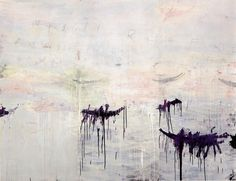 Cy Twombly   UNTITLED (A PAINTING IN 3 PARTS), 1992. / ACRYLIC, OIL BASED HOUSE PAINT, COLOURED PENCIL AND LEAD PENCIL ON WOODEN PANEL, EACH SECTION 222.5 X 99.5 CM