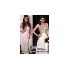 #Karishma #Tanna and #Alia #Bhatt #White #Net #Georgette #Anarkali #Gown with #Koti shop now-->> http://goo.gl/c02NLl